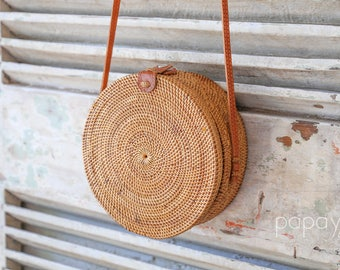 Basket Bag, Round Bag, Picnic Basket, Straw Bag, Rattan Basket, Woven Bag, Round Basket Bag, Market Basket, Shoulder Bag, Woven Basket