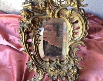 Ancient bronze mirror Support of 800-Antique Bronze Support Mirror of ' 800