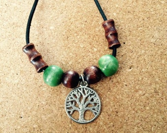 Leather Beaded Casual Necklaces