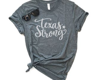 Texas Strong Unisex Short Sleeve T-shirt - Hurricane Harvey Tee