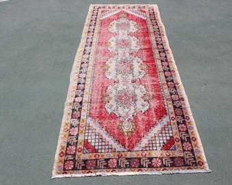 free ship rug,9'3''x3'3''old oushak runner rug,284x101,nomadic ethnic rug,vintage faded rug,home decor runner rug,turkish style runner rug