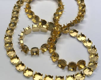 1 Foot, 12mm Empty Cup Chain for Bracelet, Matte Gold, Bracelet Making, Jewelry Makers, 12 Inches, Empty Cupchain, FAST SHIP