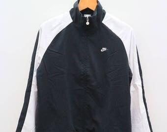 Vintage NIKE Sportswear Black Zipper Windbreaker Size L