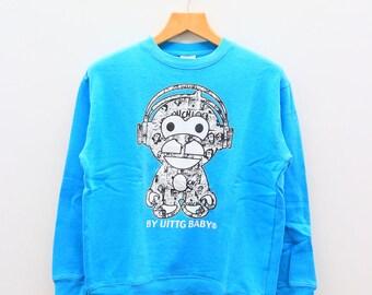 Vintage UITTG BABY Streetwear Blue Sweater Sweatshirt Size M