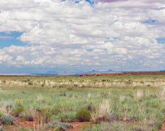 Desert Prairie Oversize Wall Art Panorama Southwest Photography Canvas Mountain Mesa Horizon Clouds