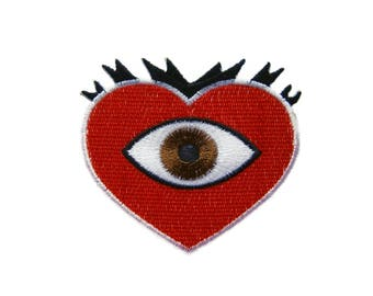 Heart Patches Applique Embroidered Iron on Patch