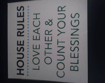 House rules wall decor