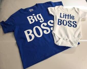 Big Boss/Little Boss matching sibling outfits