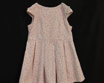 Pink corduroy dress T98