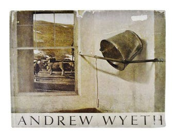 Vintage 1968 Andrew Wyeth by Richard Meryman 1st Edition Hardcover Art Coffee Table Book with Dust Jacket