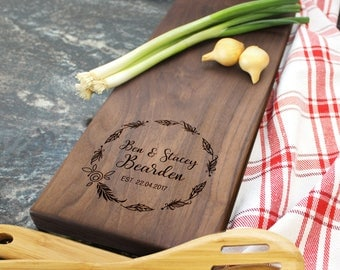 Personalized Cheese Board - Engraved Cheese Board, Custom Cheese Board, Housewarming Gift, Wedding Gift, Engagement Gift, Anniversary (024)