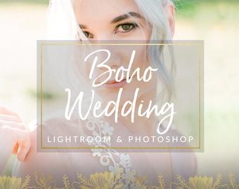 Boho Toned Wedding Lightroom Presets & Photoshop Filters for Photographers