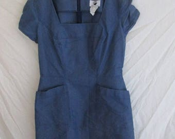 Dress vintage Thierry Mugler blue size 44