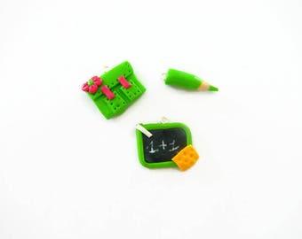 Binder + + slate pencil fimo Green