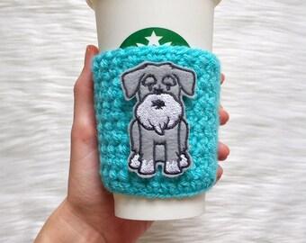 Schnauzer Cup Sleeve, Schnauzer Coffee Cozy, Schnauzer Gift