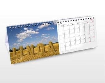 Personalised Outdoors Desk Calendar Gifts Ideas For Garden Gardenner Outside