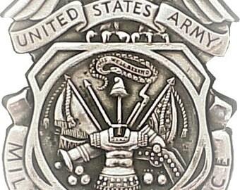 Military Police Badge Cross Stitch Pattern