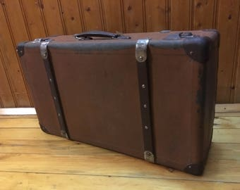 Antique suitcase | Etsy