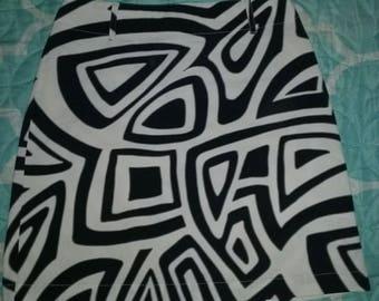 VTG 90s psychedelic skirt black white rave size 2