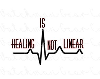Healing is Not Linear | 5.7in Vinyl Decal | Chronic Illness | Spoonie
