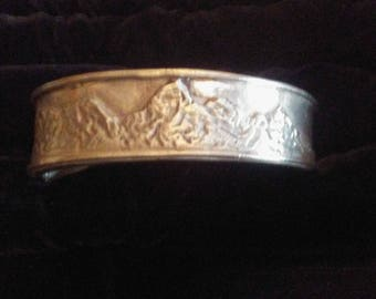 Large sterling Silver cuff Bracelet .   Great for man or woman. Solid Sterling guaranteed to last for a lifetime