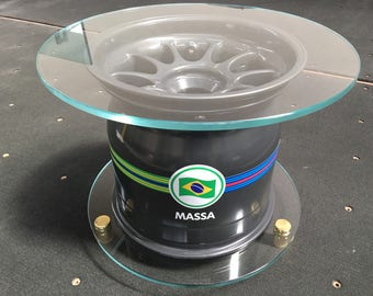 Official Felipe Massa Williams F1 Wheel Coffee Table - 2014