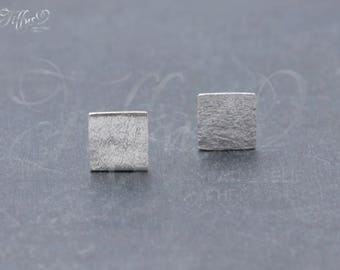 Earrings 925 sterling silver * square * square * stud earrings * square * geometry * geometric