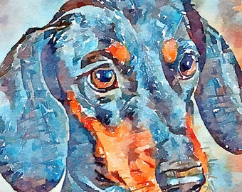 Sausage dog card | Etsy