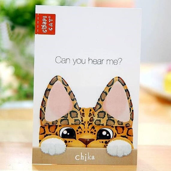 Cute cat ear memo pad