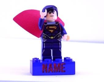 Personalised Superman Personalised Made with Lego Brick UK Seller Free Shipping