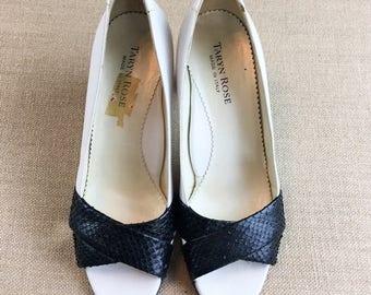 Vintage Taryn Rose Peep Toe Heels