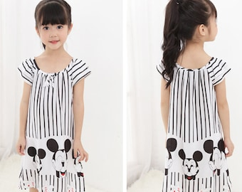 Girls Cartoon Night Dress Pajamas