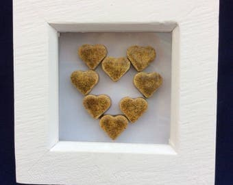 Hearts Box Frame in Gold