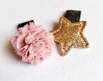 Baby hair clips, newborn hair clips, toddler hair clips, No slip hair clips, hair clips, baby hair bows, pom pom hair clips