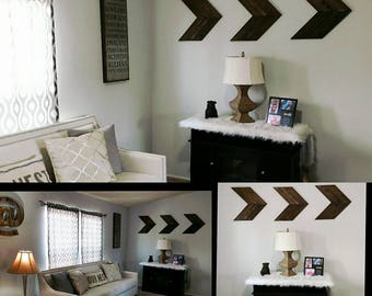 10 x 10 Wooden Chevron Arrows