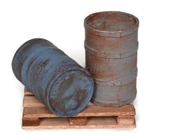 Set of 2 drums of fuel 1/18