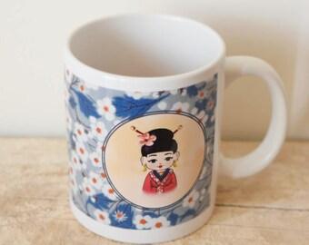 Japanese - white mug