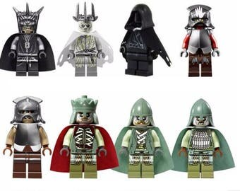 Lot of 8 figures Lego The Lord of the Rings the Hobbit customized
