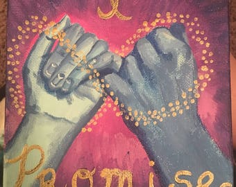 Pinky Promise Painting