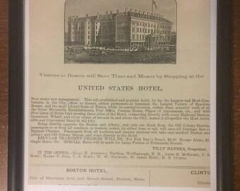 United States Hotel, Boston