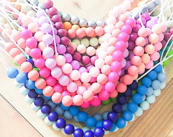 stacking silicone teething necklaces