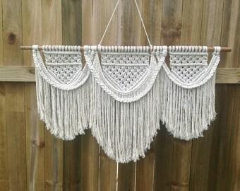 Emma Olivia Large Macrame Wall Hanging (Natural Cotton Rope)