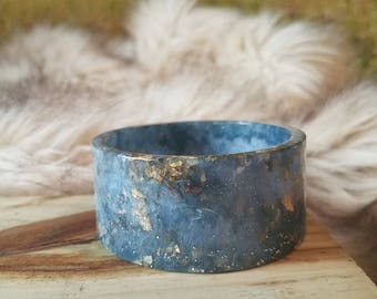 Steel Blue Resin Bangle