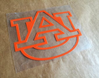 auburn tigers iron on, auburn football heat transfer decal, iron on applique diy designs, t-shirt and tank top iron on