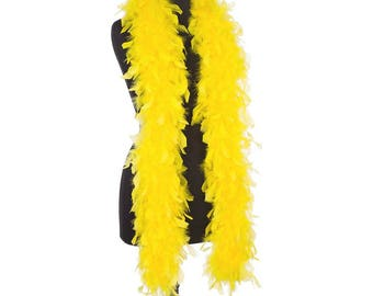 Bright Yellow 85 Gram Ultra Chandelle Feather Boas