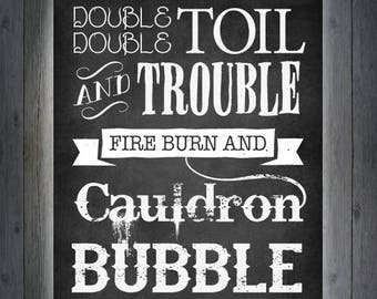 Halloween Printable - Double Double Toil & Trouble