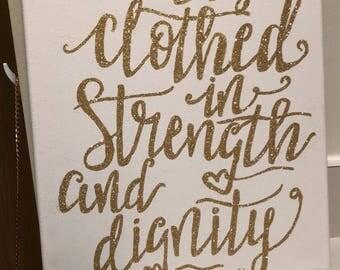 Glitter bible verse