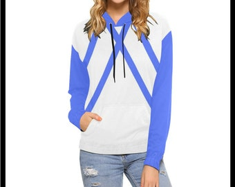 Blue Triangles Hoodie for Women