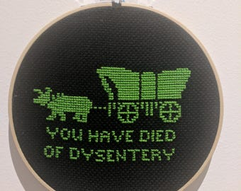 Modern Cross Stitch, completed item - Oregon Trail
