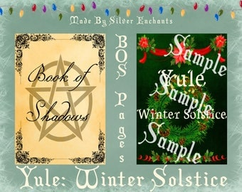 BOS Pages - Yule: Winter Solstice (Green)